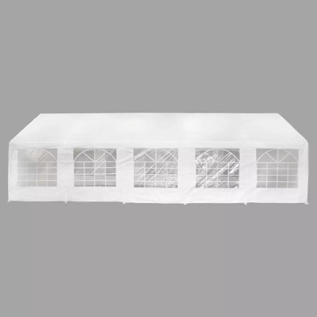 Carpa de Exterior 100% de Polietileno (10×5 m) (Blanca)