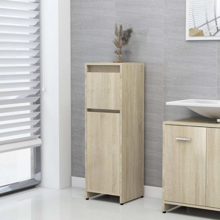 Mueble Armario de Baño 30x30x95 cm Roble Sonoma   Compra ...
